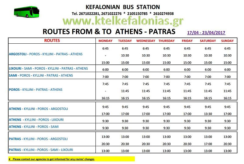 Kefalonian Bus Station