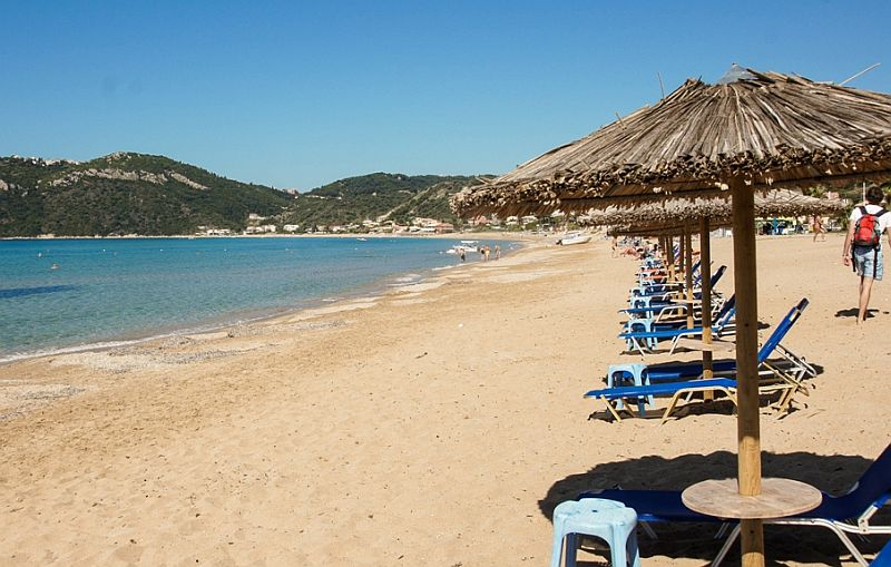 Пляж Агиос Георгиос Бич Пагон   Пляжный отдых на Корфу
