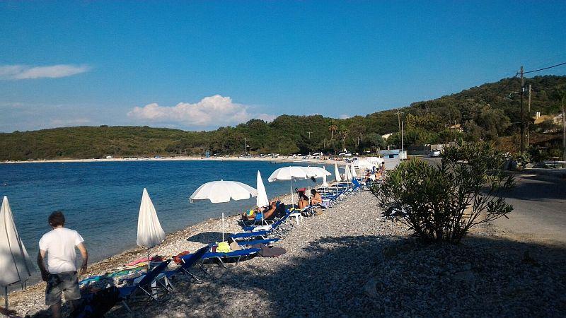 Пляж Авлаки   Пляжный отдых на Корфу